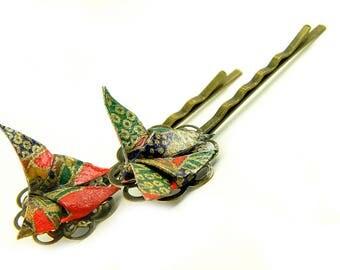 Origami barrette Butterfly