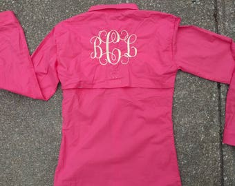 Monogram fishing shirt
