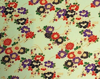 Paper Japanese 42 x 58 cm genuine Yuzen, Chyogami, Whasi, decorative, origami