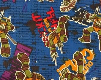 Boys Ninja Turtle Attack Blue Cargo Pocket Shorts