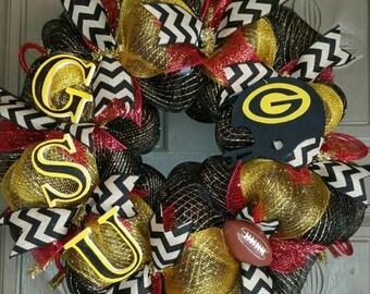 On Sale Grambling State University deco mesh wreath