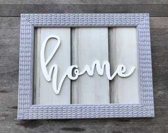 CLEARANCE!! Reclaimed Wood Home Sign | Typography sign |