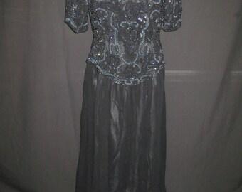 Black/erradecent gown#607