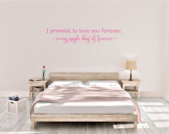 I promise to love you forever, twilight, romance, film quote, Wall Art Vinyl Decal Sticker