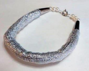 Shiny Silver-colored Bracelet