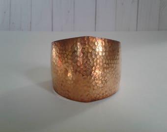 Vintage Hammered Copper Cuff Bracelet