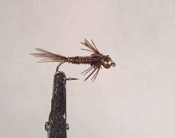 2 Size 12 Beadhead Pheasant Tail Flies for Fly Fishing