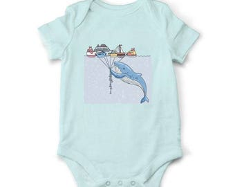 10% OFF SALE Whale funny baby bodysuit, Nautical baby clothes, Baby shower gift