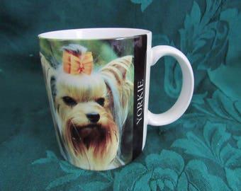 Vintage Yorkshire Terrier Mug , Yorkie  Coffee Cup. 1994