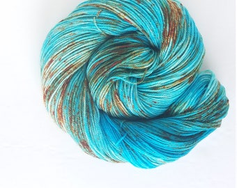 Turquoise Trail  , hand painted, indie yarn