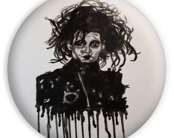 "Edward Scissorhands Johnny Depp Tim Burton 1"" Button"