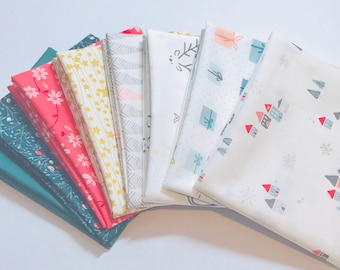 Fat Quarter Bundle Little Town by Amy Sinibaldi for Art Gallery Fabrics- Gifted- 8 Fabrics