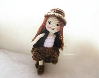 Girl amigurumi crochet doll