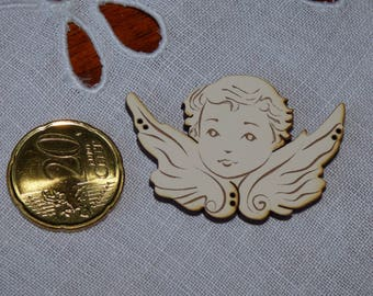 Wooden Angel ivory collar button