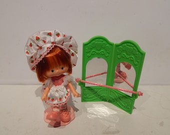 Vintage Strawberry Short Cake Dancin' Ballerina Doll Kenner 1980s Like New Almost Complete Reserved for Jodie