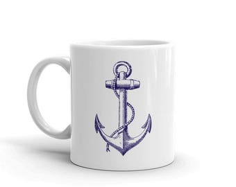 Vintage Style Anchor Mug (Ships from USA)