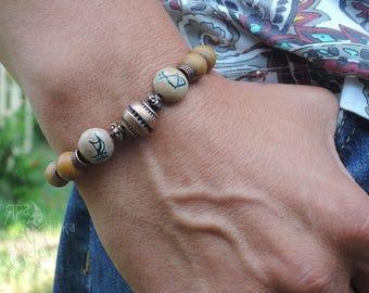 Adjustable bracelet Birthstone Bracelet Shamballa bracelet Gift for boyfriend Gemstone bracelet Christmas gift Boho bracelet Gift for him