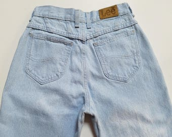 "Women's Vintage Lee Jean's High Waisted, Tapered Leg Jeans, Mom, Jeans, 26"" Waist, Medium"