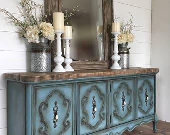 Entryway Cabinet blue entryway table | etsy