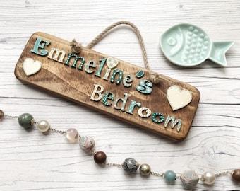 Bedroom door plaque | Personalised door sign | New baby gift | Nursery name sign | Personalised nursery sign | Kid's room decor | Door sign