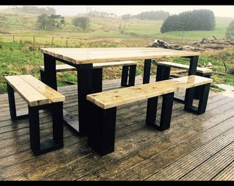 Stylish Garden Table with Benches.