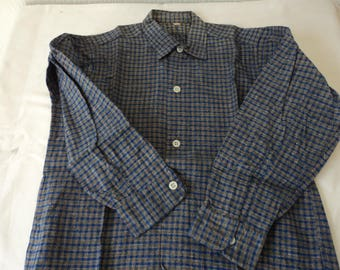 French vintage boy's western style shirt size 28 (05404)