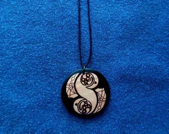 Pendant, keychain or wooden earrings: Star Wars pendant. Pyrography by hand. Jewelry.