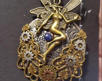 Antique Bronze Fairie Steampunk Inspired Earrings