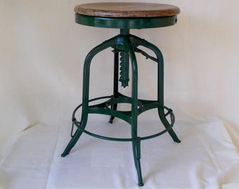 Vintage Industrial Stool, Machine Age
