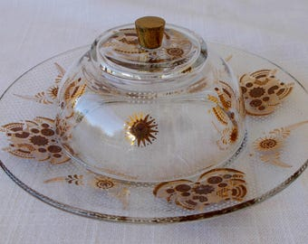 Cheese Dome Cheese Dish, Butter Dish, Vintage