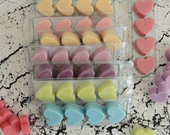 Scented candles - 4 fondant heart Blister - Scented candle - candle - Handmade candle - candle crafted Heart-