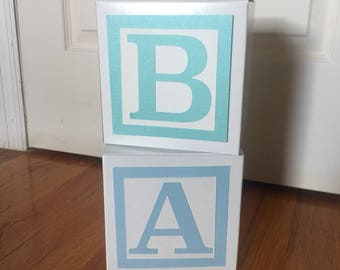 Large Custom Baby Blocks // Name Blocks // Alphabet Blocks // Baby Shower Decorations // Personalized Blocks // 6 Inch Blocks