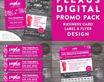 Plexus Fancy Pink Promo Pack - Business Cards, Labels & Flyer - Digital Files