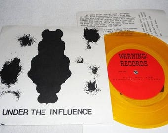 "Under the influence-various-7 ""-Warning records-vinyl record"