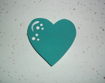 "25 Wedding Hearts 2 1/2"" Hearts, Events, Functions, Wedding Wood Hearts, Wedding Tree, Painted Hearts, Turquoise - 2 1/2"""
