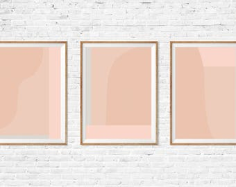 Large wall art, abstract print, Minimalist print, Modern minimalist, 3x2 promotion, Set of prints, Modern art, Mid century modern