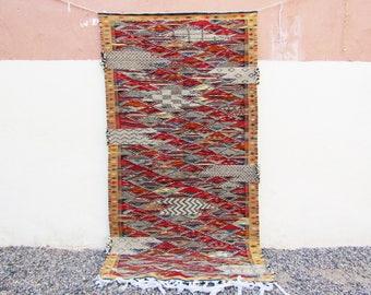 Patchwork Moroccan rug Moroccan Middle Atlas Berber flat Kilim Rug Kelim Berber Handmade Woven Atlas Wool Authentic Kilim