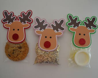 Rudolph Treat Bags - Classroom Gifts - Magic Reindeer Food -  Christmas Party Favors -  Elf on the Shelf Gift Ideas - Stocking Stuffer