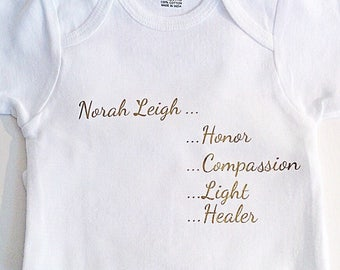 Baby name clothes, custom baby bodysuit, unique baby gift, custom baby clothes, personalized baby gift, baby gift custom, baby gift personal