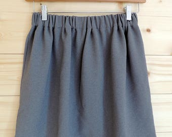 Grey gathered a-line skirt / by classy *.