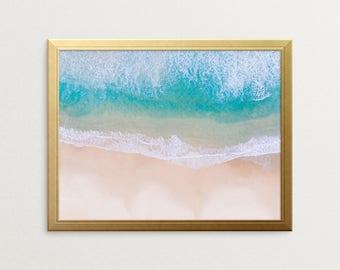 PRINTABLE ART, Beach Print, Wall Art, Coastal Decor Beach, Coastal Wall Art, Coastal Decor, Wall Decor, Shoreline Print, Coastal Prints