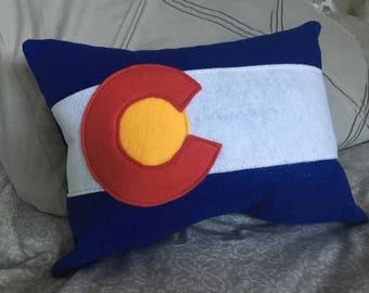 Colorado Flag pillow - Colorado Gifts - decorative pillow - throw pillow -