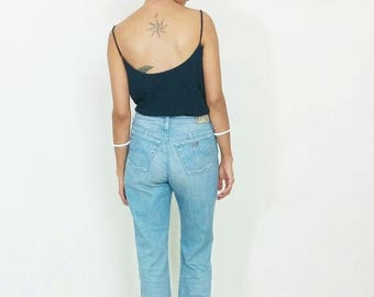 40%OFF VINTAGE ARMANI Jeans, high waist jeans, flared 70s style boho hippie hipster, blue wash denim dungarees,straight leg jeans,Giorgio Ar