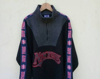 On Sale 20% Off Vintage New York Fleece Pullover Jacket/NewYork Sweater