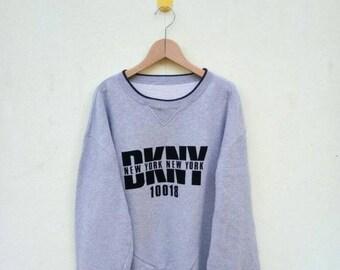 BIG SALE Vintage DKNY Sweatshirt/Dkny Sweater/Dkny Spell Out/Big Logo