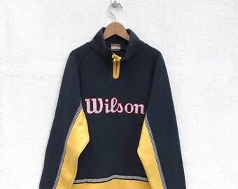 20% OFF Vintage wilson Pullover Half Zipper Big Logo/Wilson Sweater/Wilson Tennis Clothing