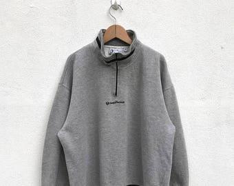 20% OFF Vintage Sergio Tacchini Half Zipper Sweater/Sergio Tacchini Sportwear/Sergio Tacchini Pullover/Sergio Tacchini Sweatshirt/Tennis Shi