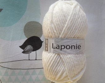 WOOL LAPLAND natural - white horse
