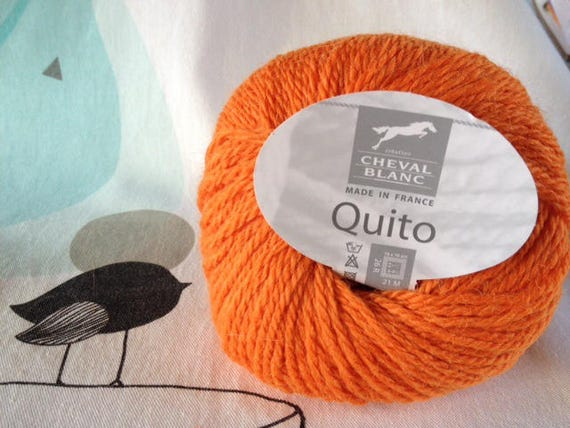 WOOL QUITO paprika - white horse