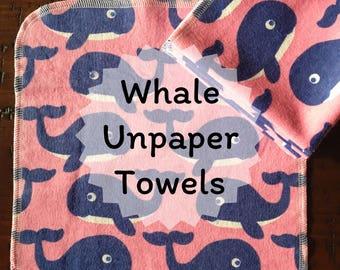 Whale Unpaper Towels - 8 count